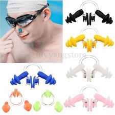 Waterproof Soft Silicone Swimming Set Nose Clip + Ear Plug Earplug Useful Tool