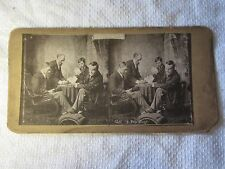 "c1880s ""I RECKONED ON ANOTHER GLASS"" Country Man Comic - Stereoview Photo Card"