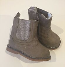 New H&M Baby Girls Brown Winter Boots 18-19 Infant 2 3