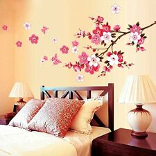 Sakura Flower Butterfly Cherry Blossom Pink Home Wall Decals Stickers  Decor