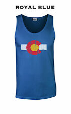 451 Colorado Flag Tank Top tight funny cool denver rocky mountain nature college