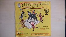 """RARE Kinor Records PASSOVER MUSIC BOX Sung by Shirley R. Cohen 10"""" 78RPM 60s"""