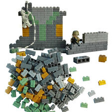 War wall brick block For LEGO 140X parts building toy balcony rampart house gift