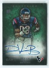 2012 Topps Inception Devier Posey GREEN AUTO AUTOGRAPH RC 40/50 TEXANS
