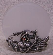 Candle Tealight Votive Holder Grim Reaper NEW pewter metal
