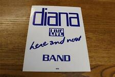 Vintage OTTO Backstage Concert Door Sign Diana Ross Here & Now Live BAND