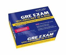 Kaplan GRE Exam Vocabulary in a Box, Kaplan, Good Book