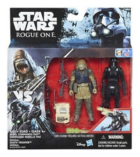 """STAR WARS ROGUE ONE REBEL COMMANDO PAO VS. IMPERIAL DEATH TROOPER 2-PACK / 3,75"""""""