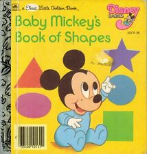 A First Little Golden Book: Baby Mickey's Book of Shapes - VGC