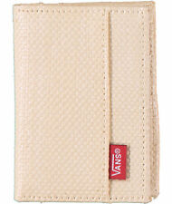 New Mens Vans Authentic Bi Fold Straw Wallet Ivory Off the Wall