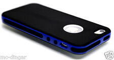 Black /Navy Snap On TPU Rubber Matte Soft Case Cover For Apple iPhone 5 5S SE