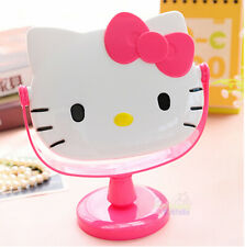 New Cute For Hello Kitty Desk Table Pink Bow Make-up Mirror Cosmetic Mirror