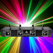 760mW 4 Lens RGYB DMX512 Laser Light Disco Club Pub DJ Stage Lighting Party