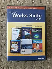 Microsoft Works 7.0 Suite 2004, Word, Picture It, Strees ,Microsoft Money