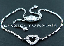 DAVID YURMAN PAVE DIAMONDS HEART STATION BRACELET
