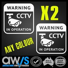 CCTV STICKER DECAL 100X100 X2 / FOR HOME SECURITY CAMERAS WARNING DECOY SAFETY