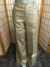 ADEC2 Metallic Gold Linen Casual Pants Womens Size 4 / 38