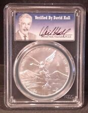 2016 Mexico Silver Libertad 1 oz Onza DAVID HALL signed MS 70 PCGS