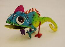 Dekobote, Metall Gecko L 32 cm bunt Gartendeko Gartenfigur Tier lustig Deko