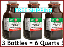 Halm's Hawaiian Style Barbeque BBQ Sauce - X3 64oz Jars = 6 Quarts HALMS HAWAII