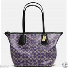Coach F33504 Violet Coated Signature Taxi Zip Top Tote Bag Brand New Jeptall