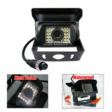 22-LEDs Rear View Backup Reversing 4pin CCD Camera For Truck Bus Caravan Trailer