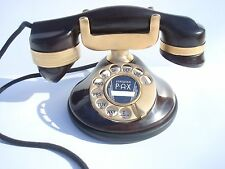 Antique Automatic Electric Monophone telephone 1A original Mahogany 24KT gold