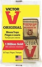 12 (twelve) m150 Victor Snap Spring Wooden Rat & Mouse Trap / Rodent Control