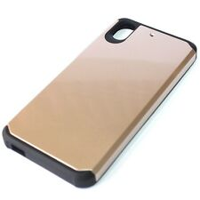 For HTC Desire 626 626S HARD TPU GUMMY RUBBER HYBRID ARMOR CASE COVER GOLD BLACK