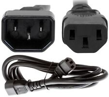 6ft Male~Female PC/PDU Power Extension Cord/Cable/Wire IEC320 C13~C14 14awg 15A