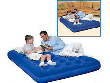 DOUBLE INFLATABLE FLOCKED AIRBED MATTRESS CAMPING BEDROOM