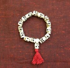 7.5 Inch Skull Mala Yak Bone Tibetan Buddhist Prayer Bracelet Made in Nepal