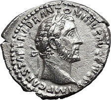 Antoninus Pius Father of Marcus Aurelius Ancient Silver Roman Coin PAX  i33537