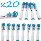 NEW 20PC Electric Tooth brush Heads Replacement Braun Oral B Vitality Dual Clean