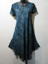 Dress Fits 1X 2X 3X Plus Gray and Black Lace Sleeves Sundress A Shaped NWT G800
