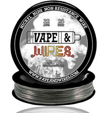 Vape & Wires Pure Nickel 201 Ni201 NON RESISTANCE 32 Gauge AWG 25ft Black Spool