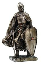 """Pacific Giftware MEDIEVAL KNIGHT 7"""" TALL CRUSADER TEMPLAR GUARD STATUE FIGURINE"""