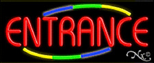 """NEW """"ENTRANCE"""" 32x13 W/MULTICOLOR DESIGN REAL NEON SIGN w/CUSTOM OPTIONS 10788"""