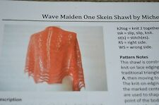 Waive Maiden One Skein Shawl Knitting Pattern by Michelle Miller