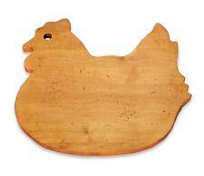 """J.K. Adams Chicken Hen Shaped Cutting Board Solid Maple Wood 12 1/2 """" X 11 1/2"""""""