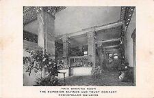 Ohio postcard Cleveland Main Banking Room Superior Savings & Trust Bank pre-1907