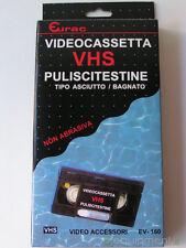 Eurac Video Cassetta Pulisci Testine VHS - Tipo Asciutto / Bagnato - Nuova