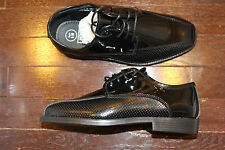 After Six A6087B Boys Baby TODDLER Tuxedo Formal Dress Shoes Black Lastrada 12 M