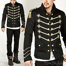 New Mens Fashion Cool Outwear Tops Runway Lux Gold Embroidery Napoleon Jacket
