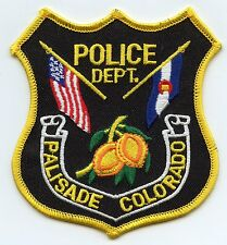 new style PALISADE COLORADO CO state flag POLICE PATCH