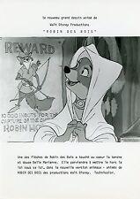 ROBIN DES BOIS ROBIN HOOD WALT DISNEY 1973 VINTAGE PHOTO ARGENTIQUE ORIGINALE 1
