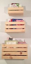 SET OF 3 SIZES-Crate Style Book Shelves Shelf-Kids- Crates Wall Mount- Pinterest