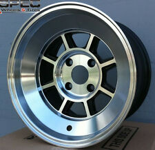 15X9 ROTA SHAKOTAN RIMS 4X100 WHEELS +0MM OFFSET POLISHED COLOR (SET OF 4)
