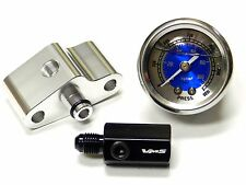 "NITROUS PRESSURE LINE ADAPTER 1/8"" PORT + 0-1500 PSI GAUGE BL FOR NISSAN 350Z"