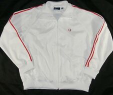 Nice Fred Perry White Mens Track Jacket Sz XL S2935